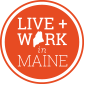 live and work in maine logo